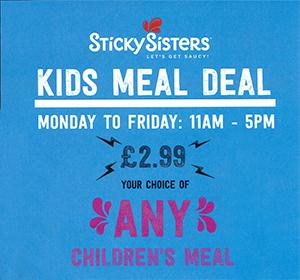 <span>Sticky Sisters Kids</span><i>→</i>